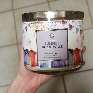 Summer Boardwalk 3 wick candle from bath and body